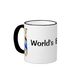 World's Best Dad Multi-Color Colorful Fake Tie Mug