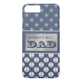 World's Best Dad Nautical Theme iPhone 8 Plus/7 Plus Case