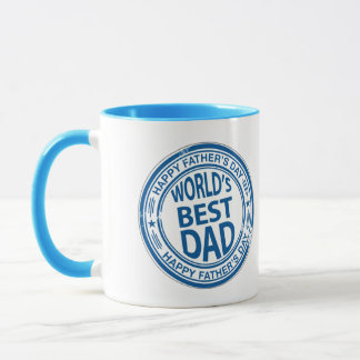 Worlds Best Dad Ringer Coffee Mug