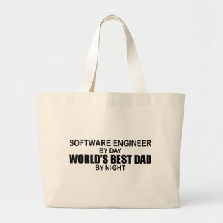World's Best Dad - Software Engineer Jumbo Tote Bag