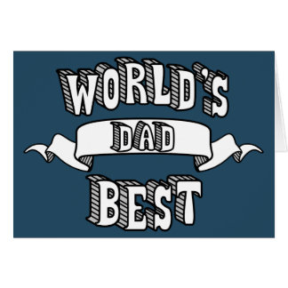 World's Best Dad Typography Text Card