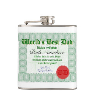 World's Best Dad Hip Flasks