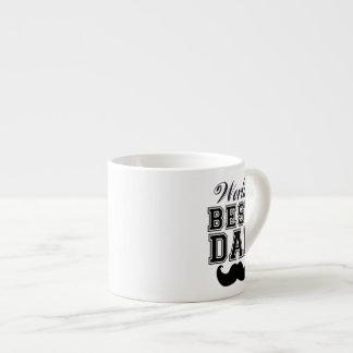 World's best dad with mustache espresso mug