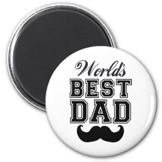 World's best dad with mustache magnets