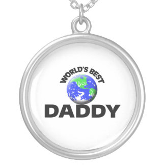 World's Best Daddy Silver Plated Necklace