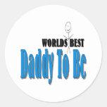 World's Best Daddy To Be Classic Round Sticker