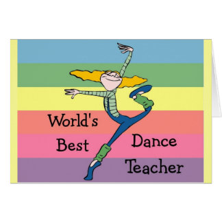 World's best dance teacher merchandise card