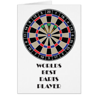 Worlds Best Darts Player Card