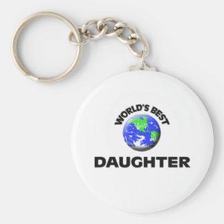 World's Best Daughter Basic Round Button Key Ring