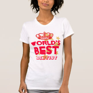 World's Best DENTIST Red Crown and Stars V15 T-Shirt