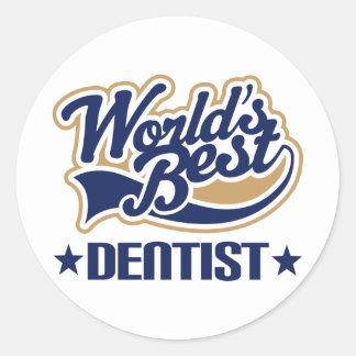 Worlds Best Dentist Round Stickers