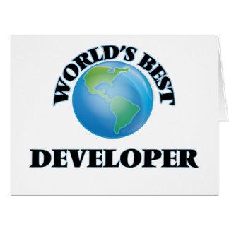 World's Best Developer Greeting Cards