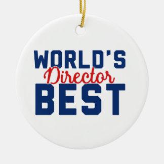 World's Best Director Ceramic Ornament