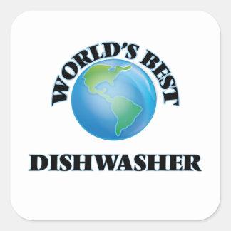 World's Best Dishwasher Square Sticker