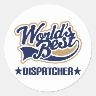 Worlds Best Dispatcher Round Sticker