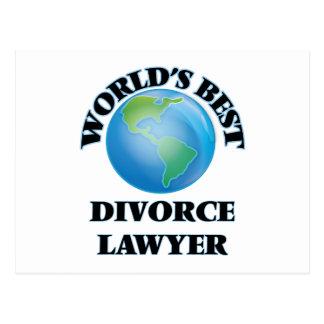 World's Best Divorce Lawyer Post Card