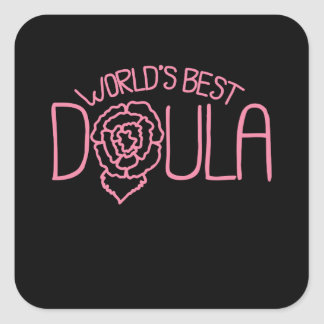 World's Best Doula Square Sticker