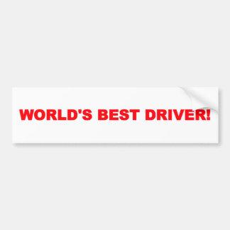 World's Best Driver Bumper Sticker Car Bumper Sticker