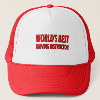 World's Best Driving Instructor Trucker Hat