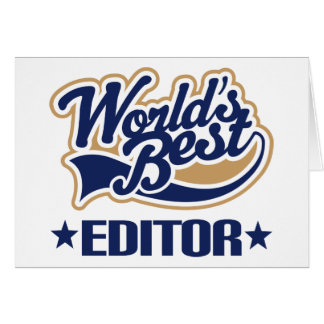 Worlds Best Editor Card
