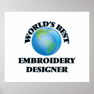 World's Best Embroidery Designer Poster