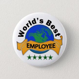 World's Best Employee 6 Cm Round Badge
