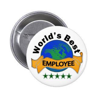 World's Best Employee 6 Cm Round Badge