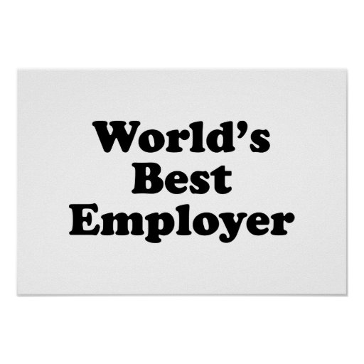 World's Best Employer Poster