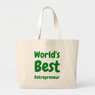 World's Best Entrepreneur Jumbo Tote Bag