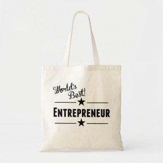 World's Best Entrepreneur Budget Tote Bag