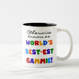 World's Best-est Gammie T-shirts and Gifts Two-Tone Coffee Mug