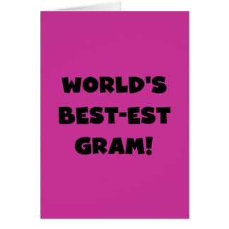 World's Best-est Gram Black Text Tshirts and GIfts Card