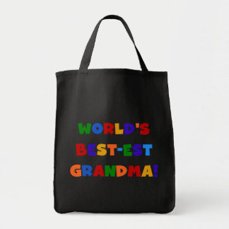 World's Best-est Grandma Bright T-shirts and Gifts Jumbo Tote Bag