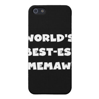 World's Best-est Memaw Black and White  iPhone 5 Case
