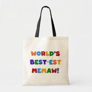 World's Best-est Memaw Bright Colors Tshirts Budget Tote Bag
