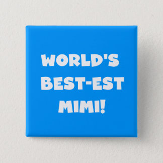 World's Best-est Mimi White Text T-shirts Gifts 15 Cm Square Badge