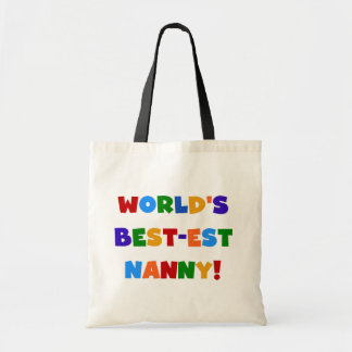 World's Best-est Nanny Bright Colors Gifts