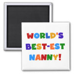 World's Best-est Nanny Bright Colours Gifts