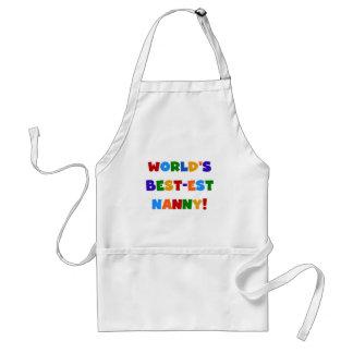 World's Best-est Nanny Bright Colours Gifts Standard Apron
