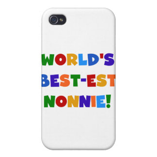 World's Best-est Nonnie Bright Colors Gifts Case For iPhone 4