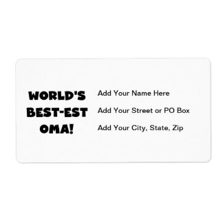 World's Best-est Oma Black or White Gifts Shipping Label