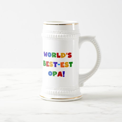World's Best-est Opa Bright Colors Gifts Mugs