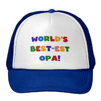 World's Best-est Opa Bright Colours Gifts Cap