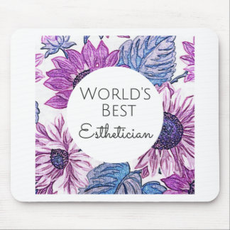 World's Best Esthetician gift 5 Mouse Pad