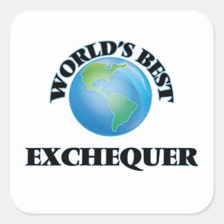 World's Best Exchequer Square Sticker