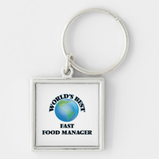 World's Best Fast Food Manager Keychain
