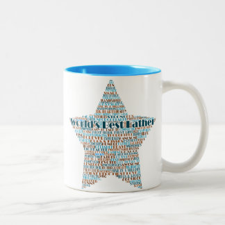 World's Best Father Heart Word Art Coffee Mugs