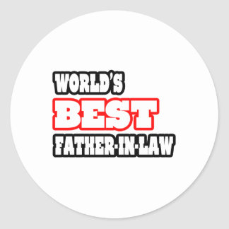 World's Best Father-In-Law Sticker