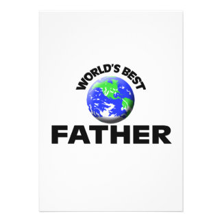 World's Best Father Custom Invites