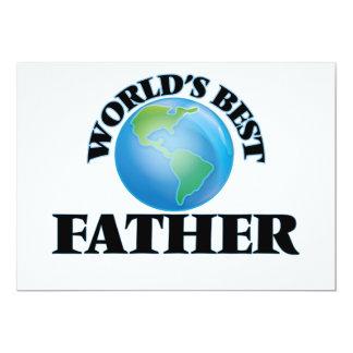 "World's Best Father 5"" X 7"" Invitation Card"